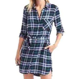 NWT Gap + Pendleton flannel Shirtdress XS